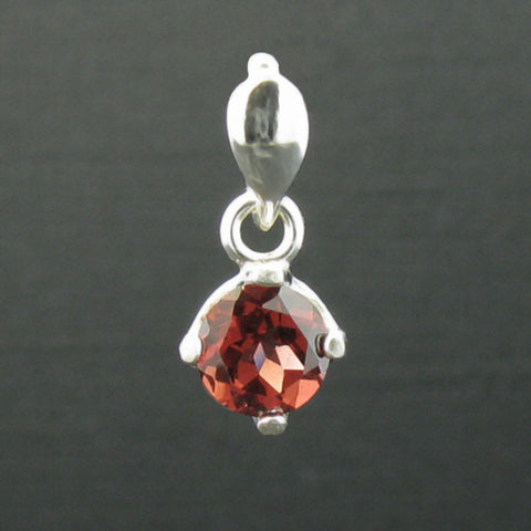 New Spinel Sterling Silver Pendant in 1 carat 6mm Setting
