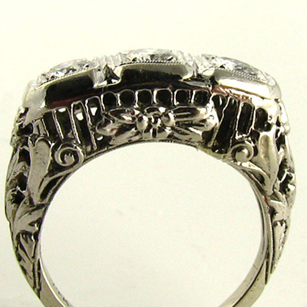 Art Deco Diamond Ring Side2