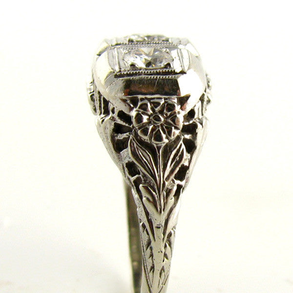 Art Deco Diamond Ring Side