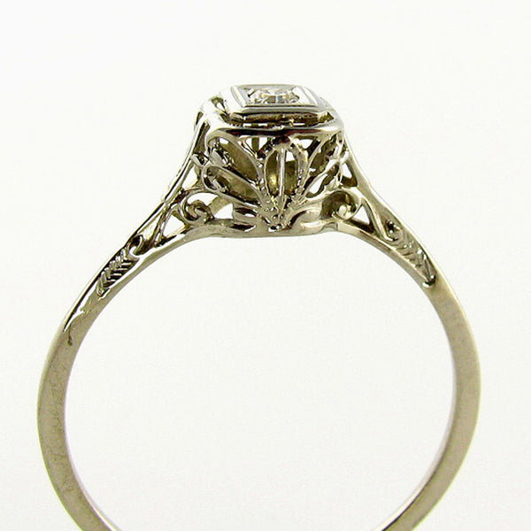 Art Deco Filigree Ring Side