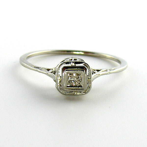 Openwork Old European Cut Diamond Ring