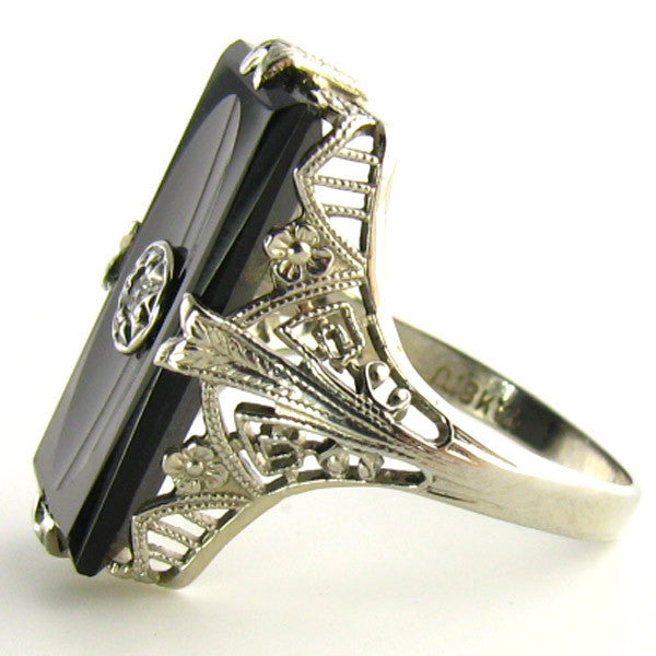 Art Deco Onyx Ring by Arch Crown Mfg Company-Side2