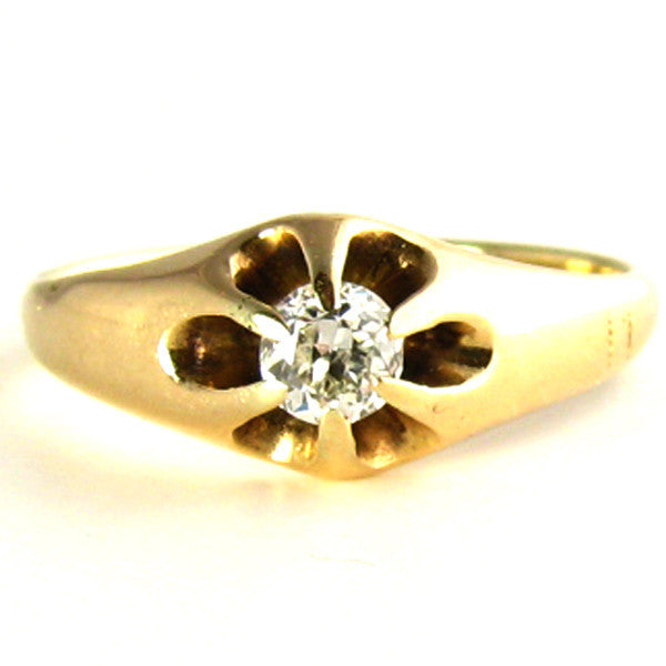 Antique Diamond Ring: Engraved 1862-1912