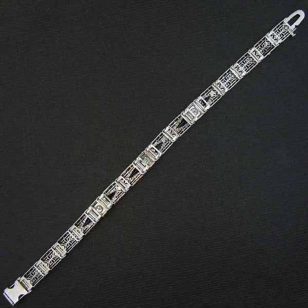 Original Art Deco Bracelet Back