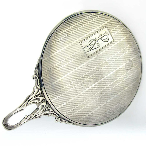 Thomae & Company Art Deco Sterling Mirror, Chatelaine Purse Sized