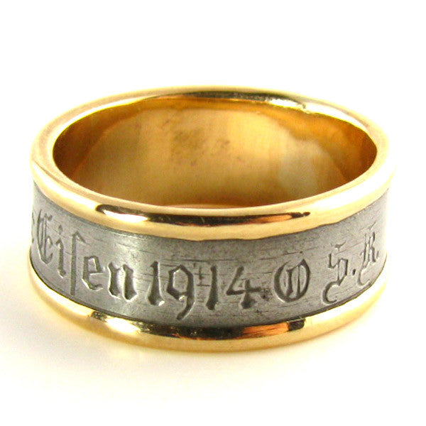 Historic 1914 Berlin Iron and Rose Gold Ring