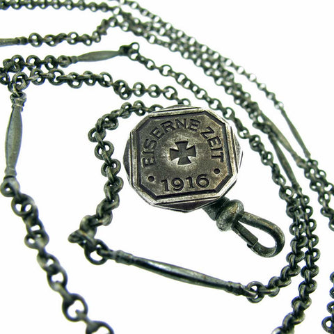 "Antique 1916, Berlin Iron Long Guard, ""In Eisernerzeit 1916"" WWI - Beautiful Antique Jewelry"