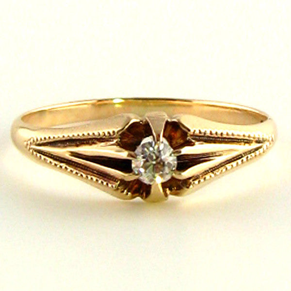 Edwardian Diamond Ring in Rose Gold