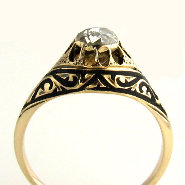 Early 1800 Diamond Ring Side