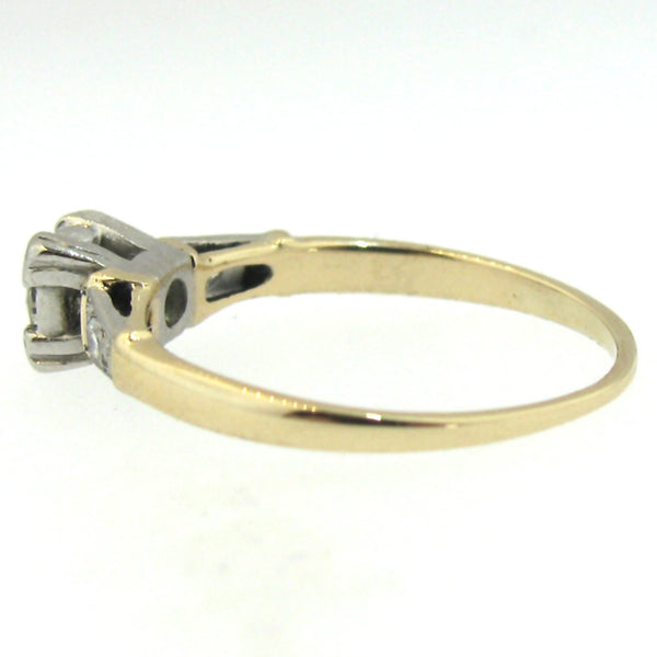 VS2 Old European Cut Diamond Ring in 14K Yellow Gold