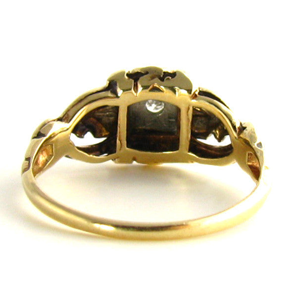 Intricate Art Deco Ring Back
