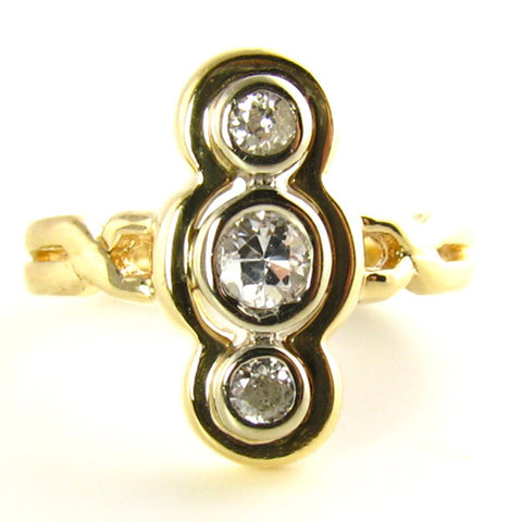 Late Victorian to Edwardian Diamond Triliogy Ring