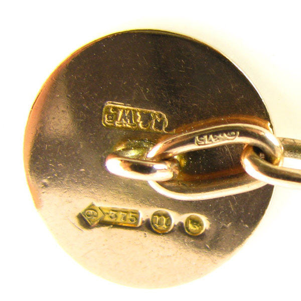 Art Deco Cufflinks by Mappin and Webb - 1928 London date codes