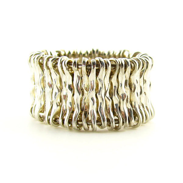 Modern Sterling Silver Ring, Wire Ring
