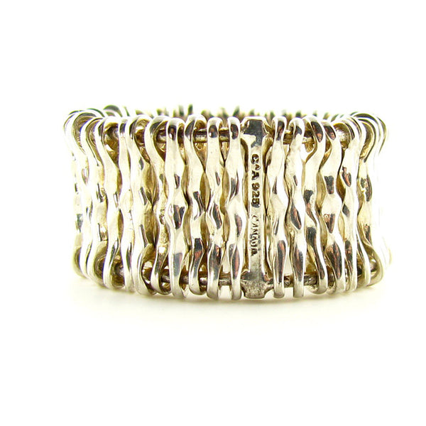 Modern Sterling Silver Ring Wire Ring