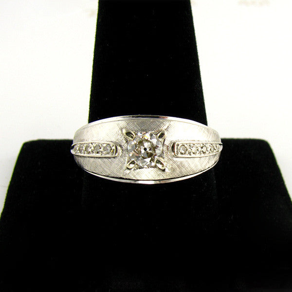 Old European Diamond Mens RIng