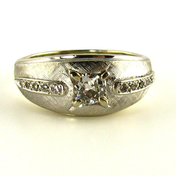 Old European Cut Diamond Mens RIng
