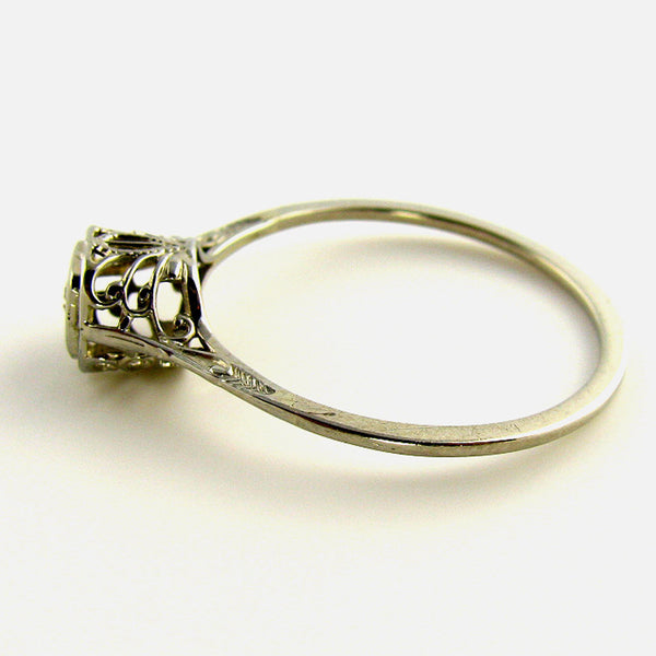 Openwork Old European Cut Diamond Ring3
