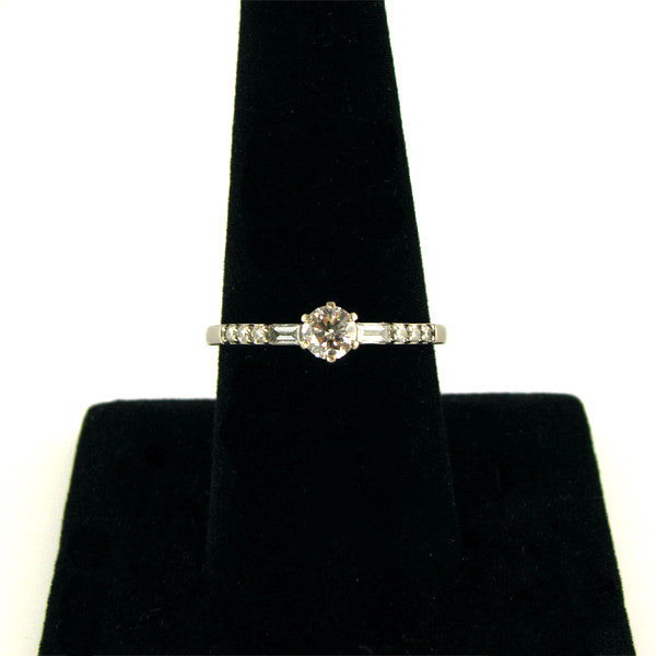 Third Carat Diamond Engagement Ring On finger