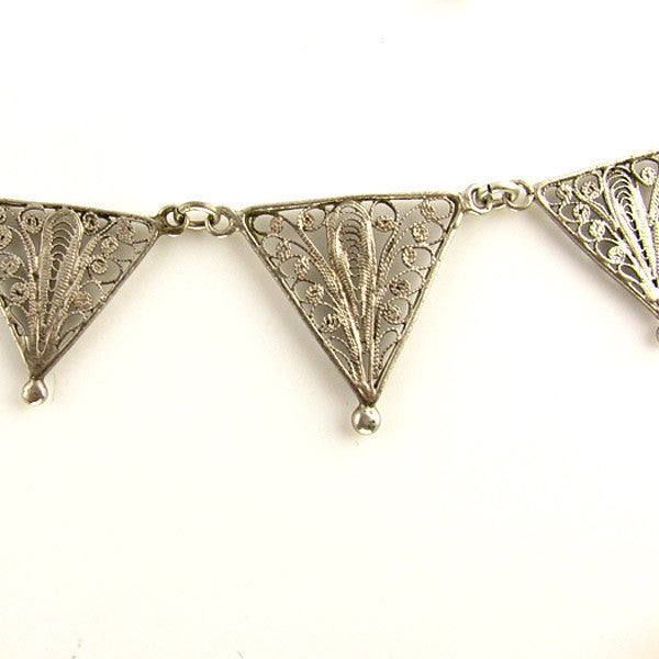 Vintage Silver Filigree Necklace