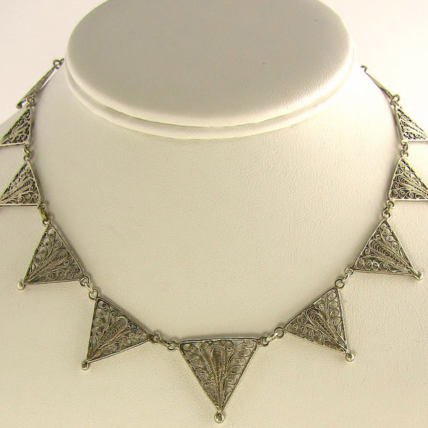 Vintage-Filigree-Jewelry-Choker-Necklace