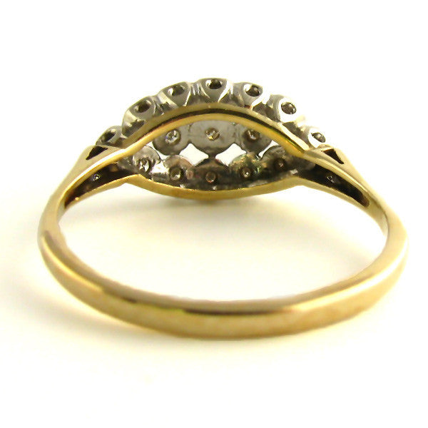 Vintage Diamond Ring Back
