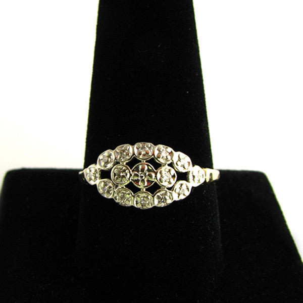 Vintage Diamond Ring On Finger