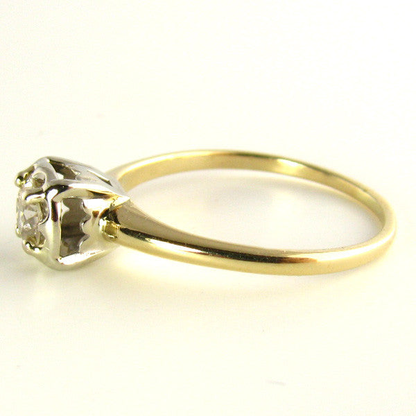Vintage Engagement Ring - Old European Cut Diamond Side