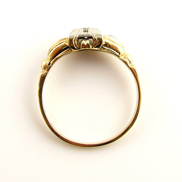 Sweetheart 1930's Vintage Ring- Pinky Ring