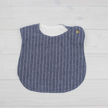 Load image into Gallery viewer, Bib | CHAMBRAY DOUBLE STRIPE
