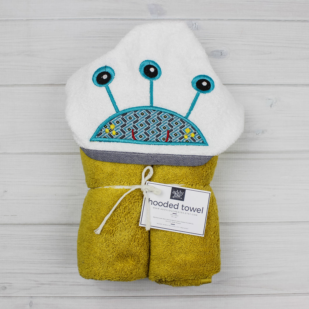 Hooded Towel | Monster -3 Eyed