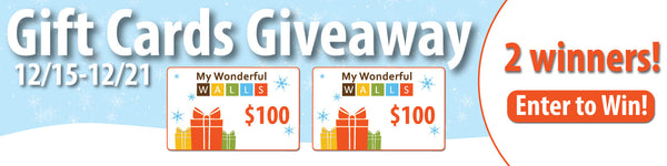 Win a $100 My Wonderful Walls Gift Certificate This Holiday Season