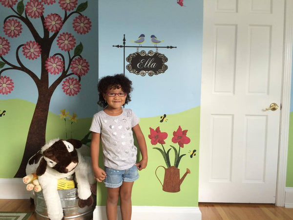Ella Lives Each Day to the Fullest in Her Garden Themed Bedroom