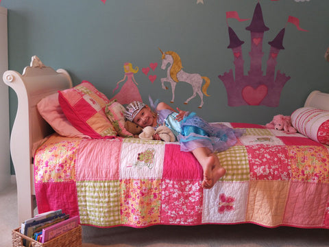 princess room wall mural