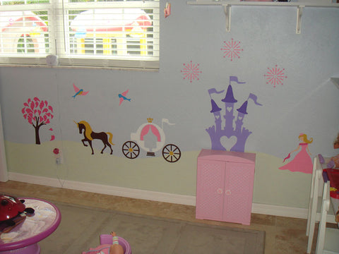 Princess Theme Wall Mural