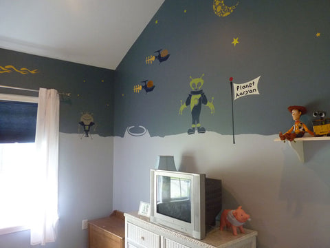 outer space boys room