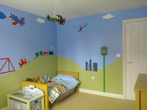Transportation Themed Kids Bedroom