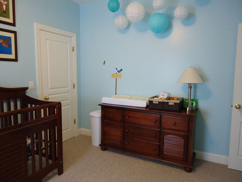 blue baby room walls