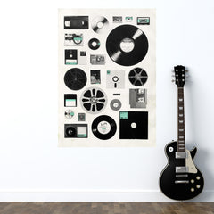 Retro Music Wall Decal