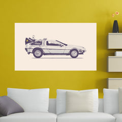 Retro Car Wall Sticker
