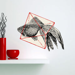 Geo Fish Wall Sticker