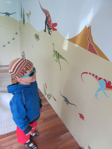 Dino Days Wall Mural Stencil Kit