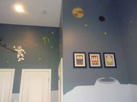 space theme wall stencils