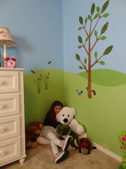 girls room wall mural