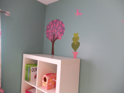 pink tree sticker decal