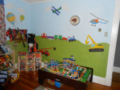 Train and Cars Boys Room