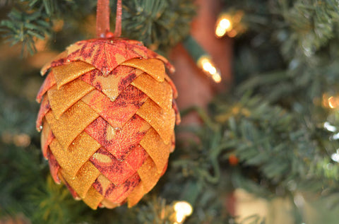 Autumn Pinecone Ornament