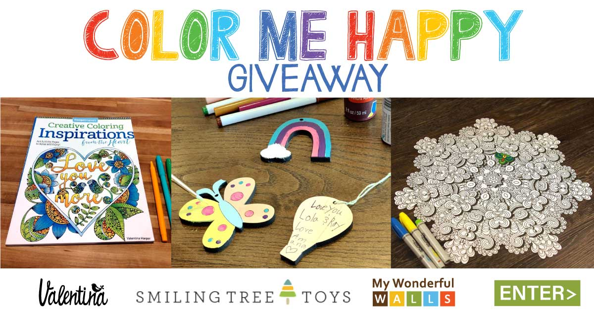 Color Me Happy Giveaway - Win the Ultimate Coloring Prize Package