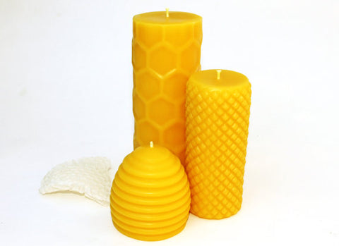 Beeswax Candle Trio