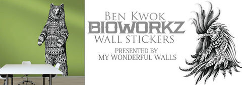 New Ornate Wall Decals with Art from BioWorkZ - Meet the Artist